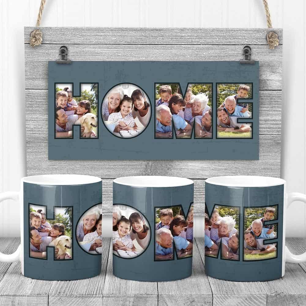 Home custom photo mugs