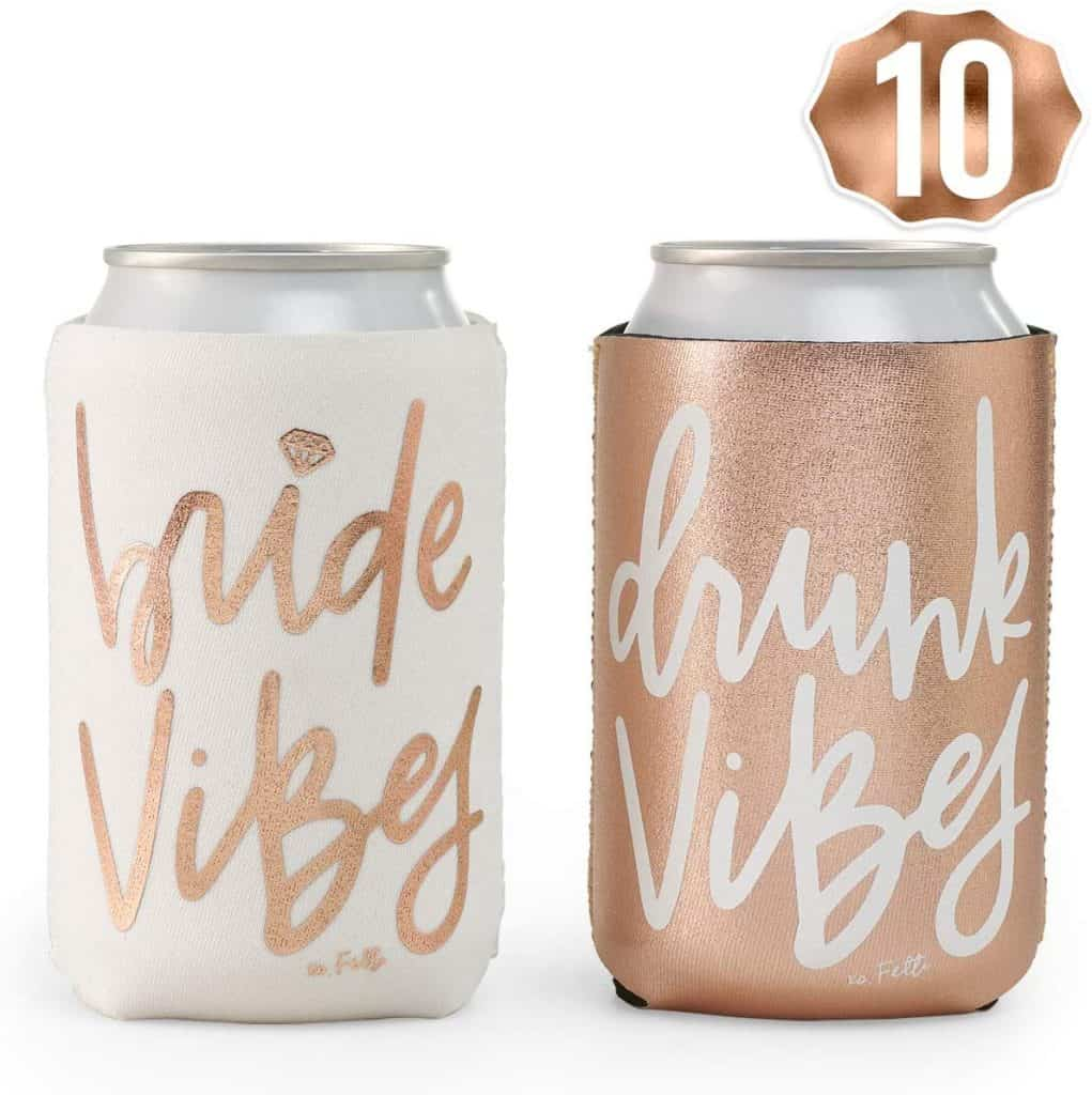 affordable bridesmaid gift: Rose Gold Can Holder