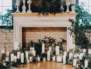 fireplace ceremony altar