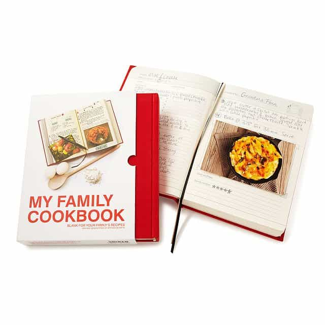 personalized gift for grandma: my family cookbook
