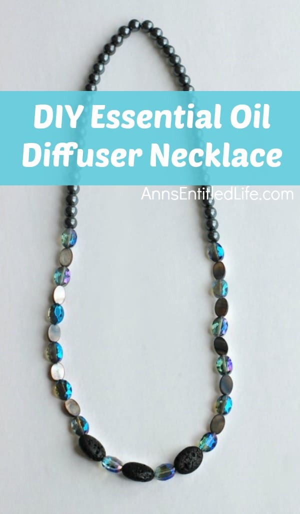 diy gift for grandma: essential oil diffuser necklace