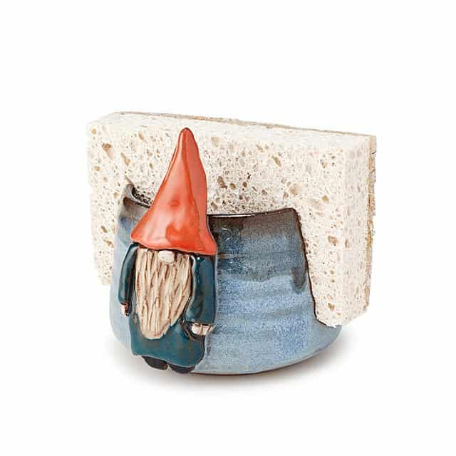 gifts for grandma: gnome sponge holder