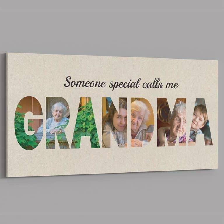 photo gift for grandma: custom photo canvas