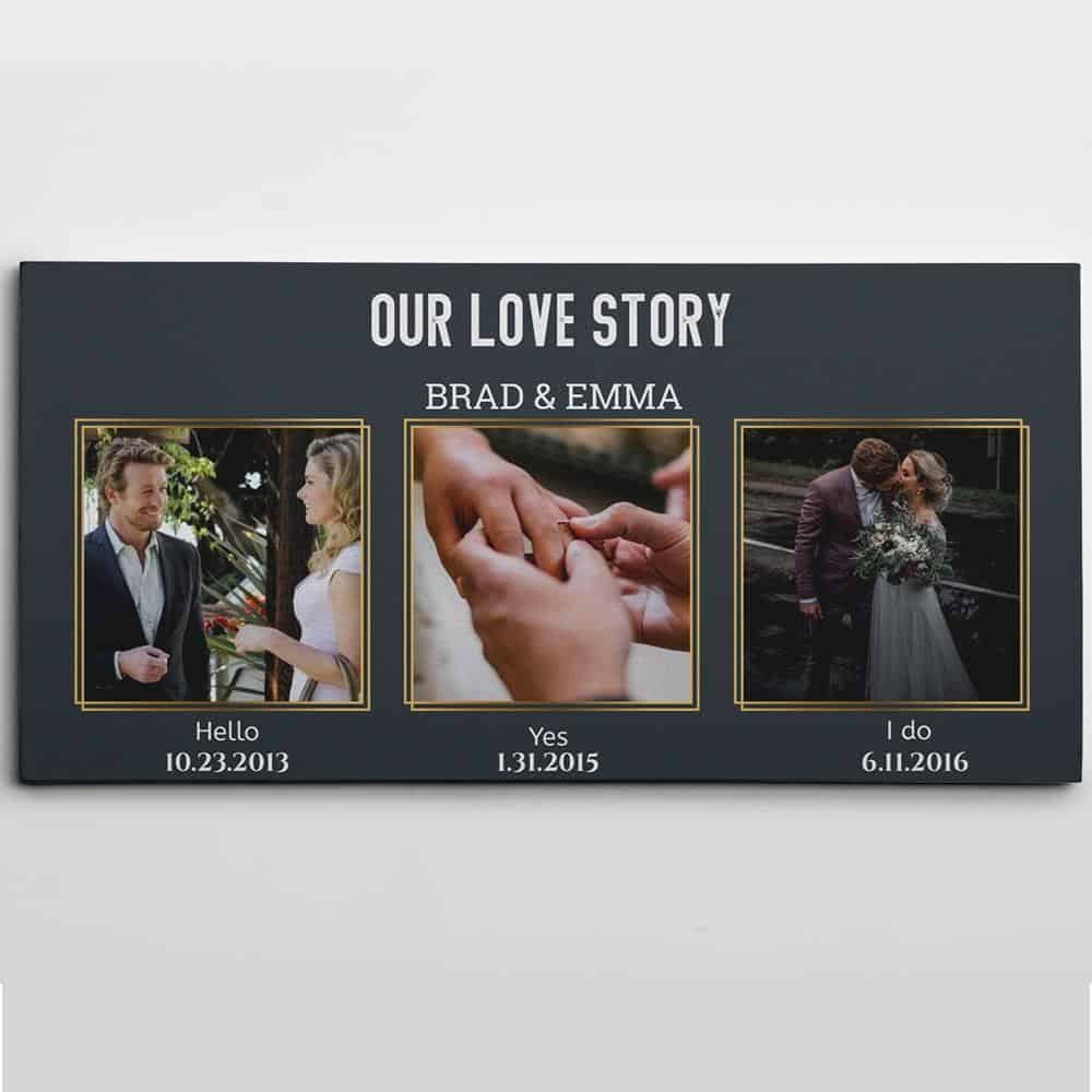 Our Love Story Custom 3 Photo Canvas-Great Big Canvas Ideas