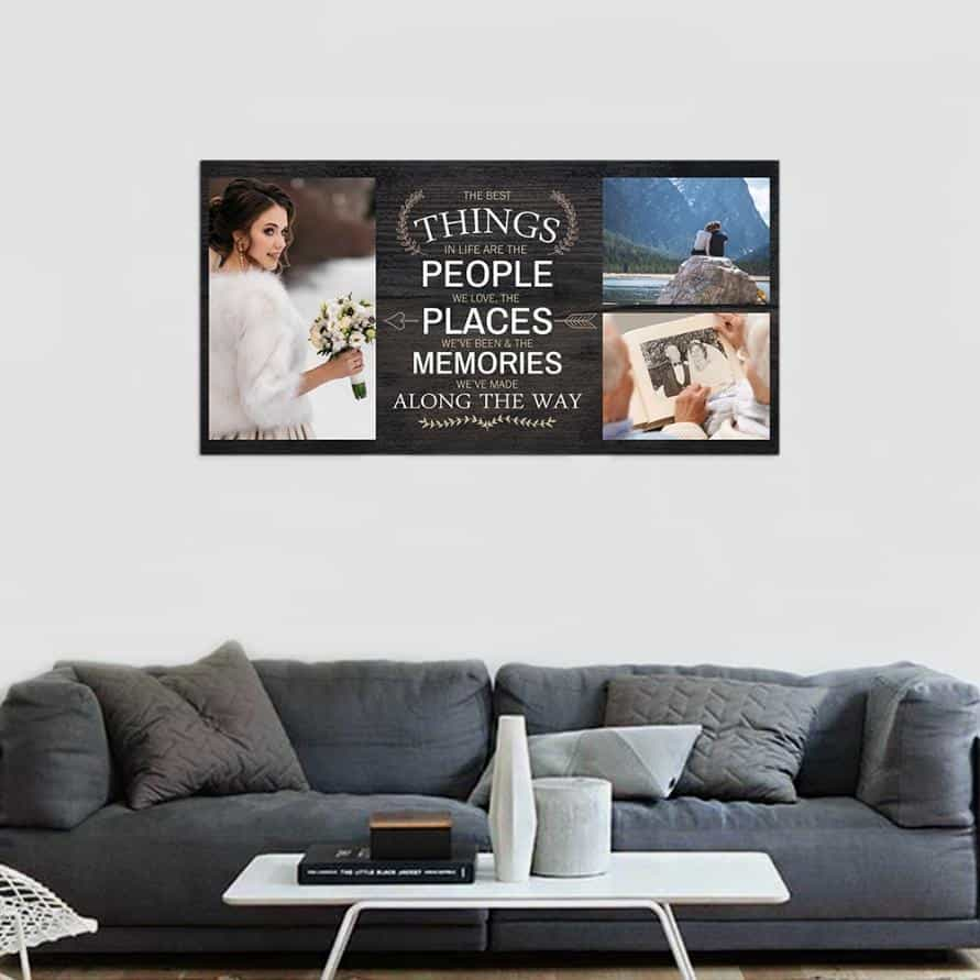 The Best Things In Life Custom Photo Canvas