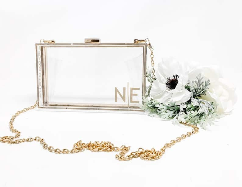 personalized bridesmaid gifts: personalized clutches