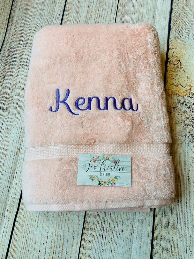 bridesmaid gift ideas: Personalized Towel