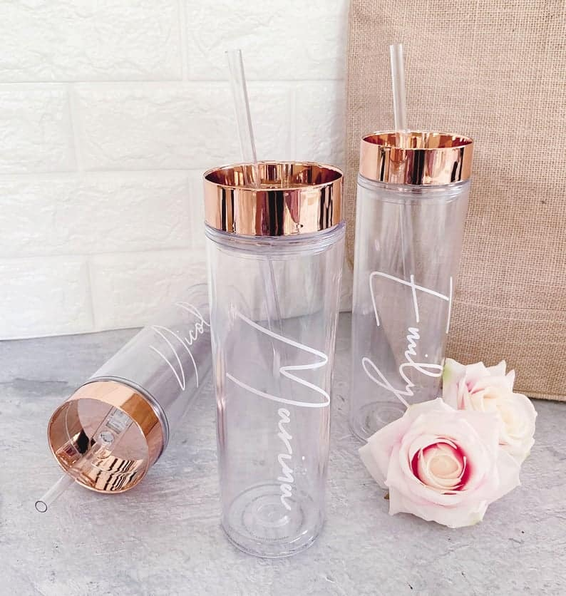 personalized bridesmaid gifts: Personalized Tumblers