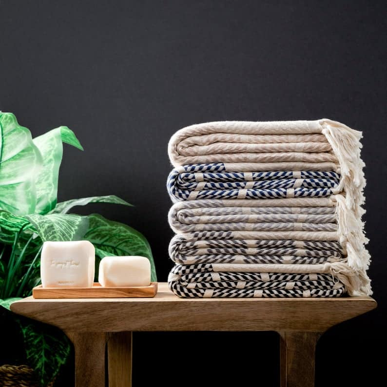 bridal party gifts: turkish towels
