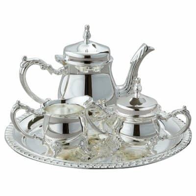 5th anniversary silverware gift idea silver coffee set