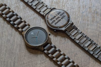 custon wooden watch anniversary gift for men