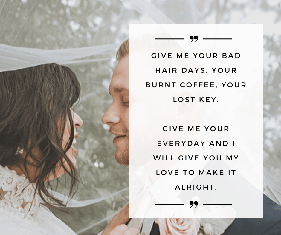 Funny Non-traditional Wedding Vows For Her - Give Me Your Bad Hair Day