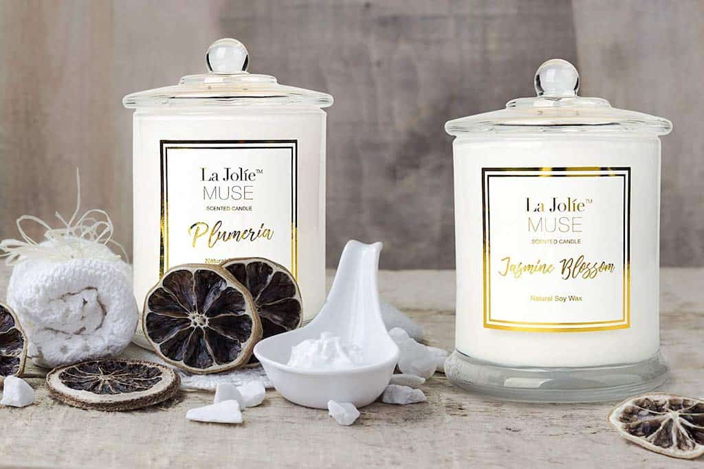 Christmas Gifts for Coworkers - LA JOLIE MUSE Plumeria Scented Candles