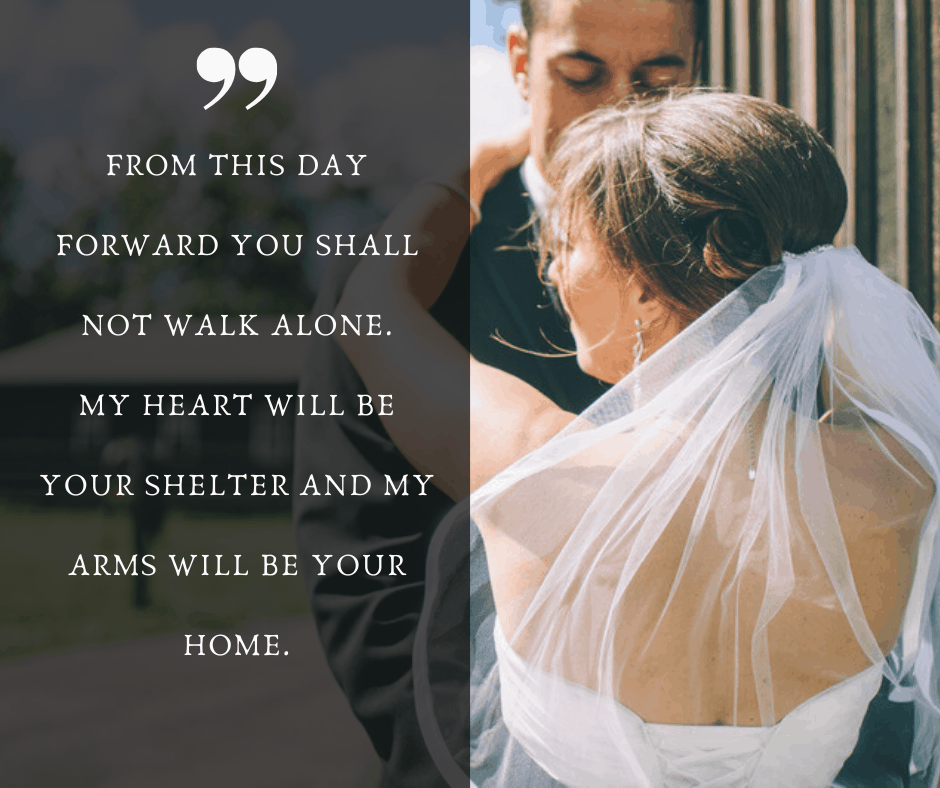 Romantic Non-traditional Wedding Vows For Him 2
