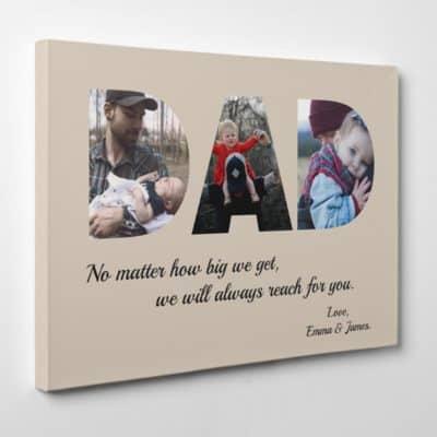 gift idea for dad custom photo canvas