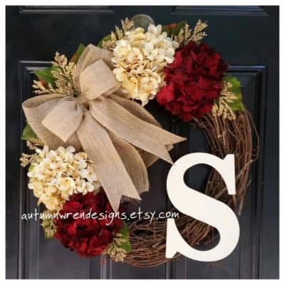 christmas gift floral wreath for front door