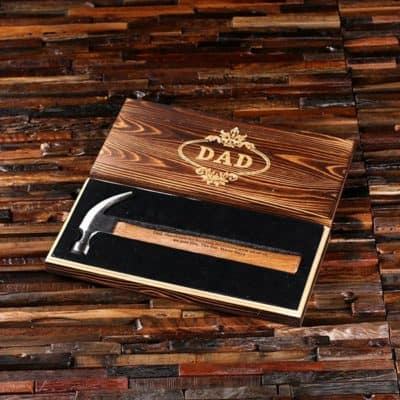 christmas gift idea for dad father of the bride Personalized Hammer