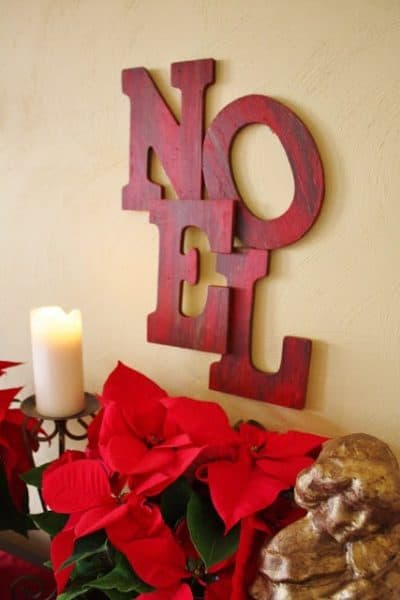 noel letter wall art christmas decoration idea