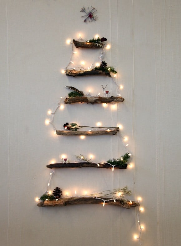 rustic christmas tree christmas wall decor