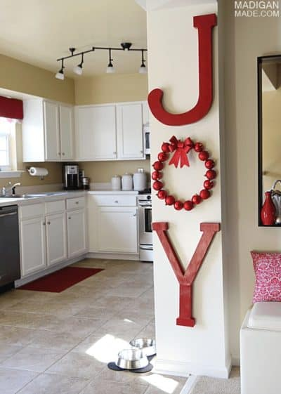 christmas vibe wall letter decor