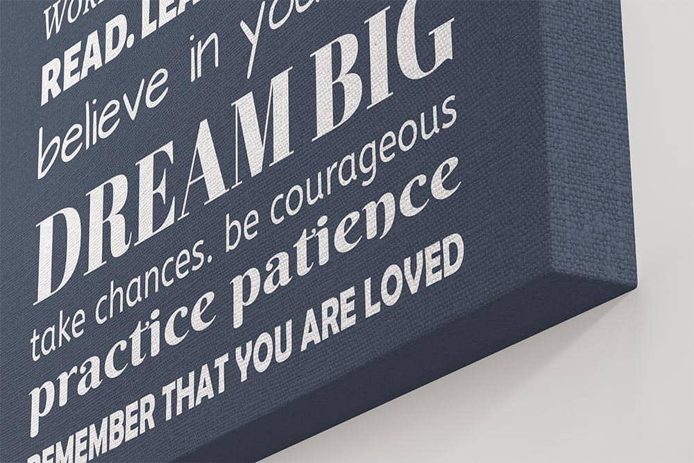 family rules sign - dream big