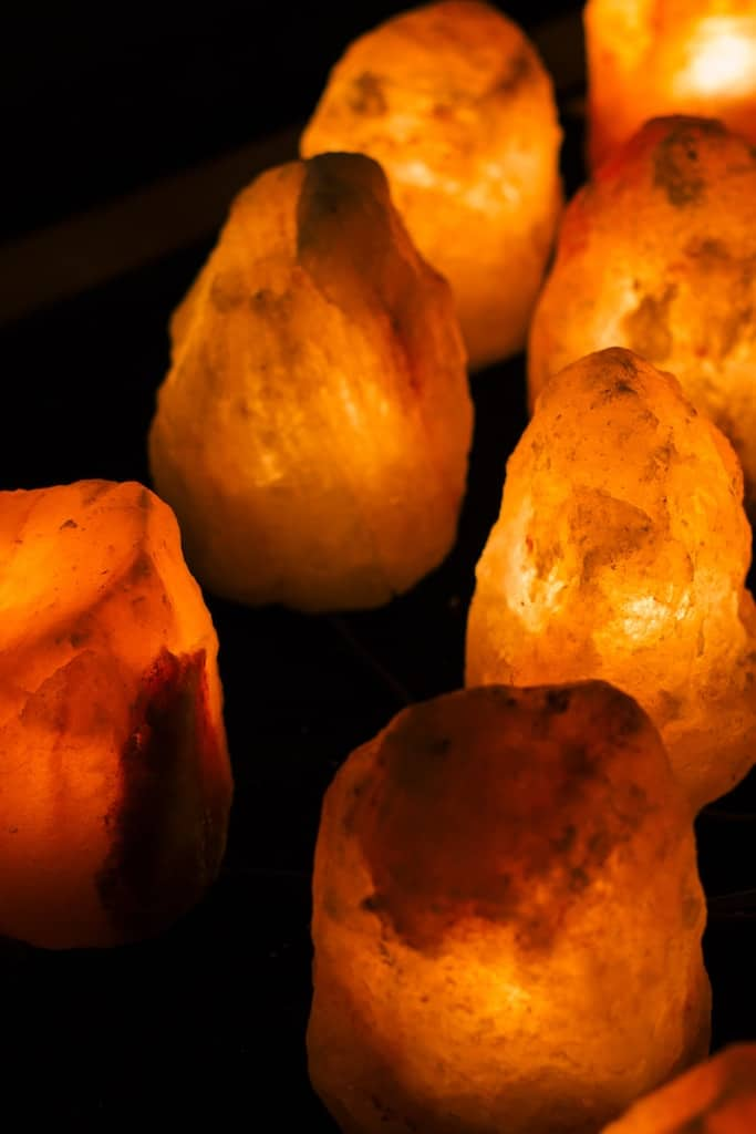 Christmas Gifts for Coworkers - himalayan pink salt lamp