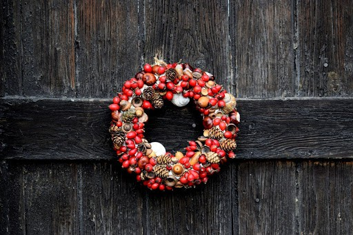 christmas wreath decor idea
