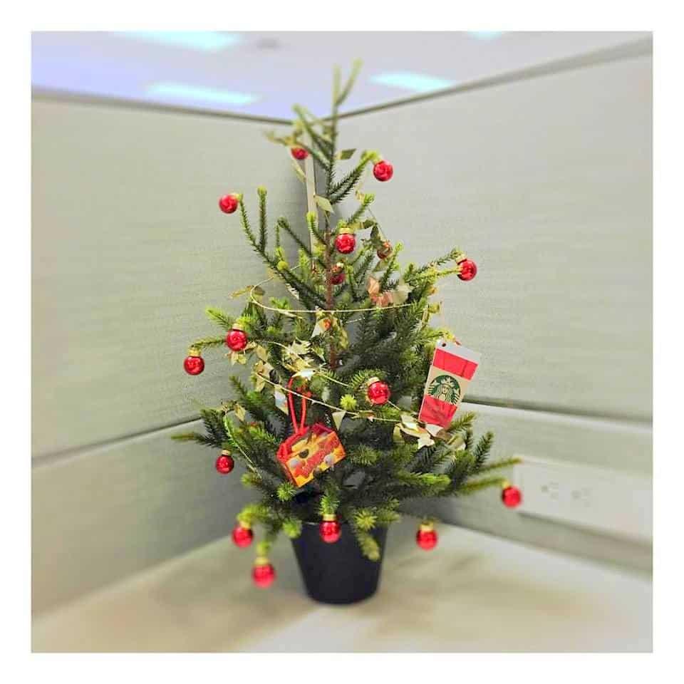 christmas tree desk decor for office