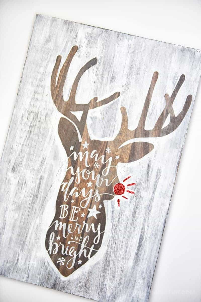 diy craft rudolph the deer christmas decor idea