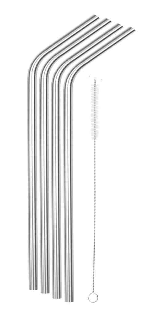 christmas gifts for coworkers - reusable stainless-steel straws