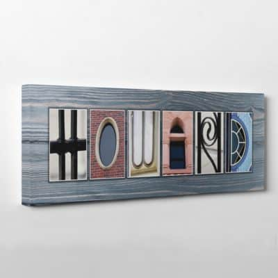 letter art canvas print