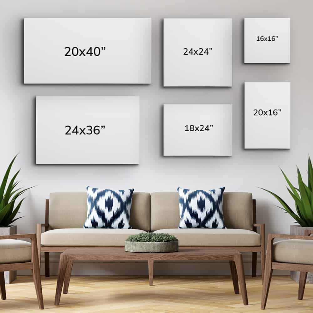 Wall Art Size Guide: Choose the Best Canvas Size