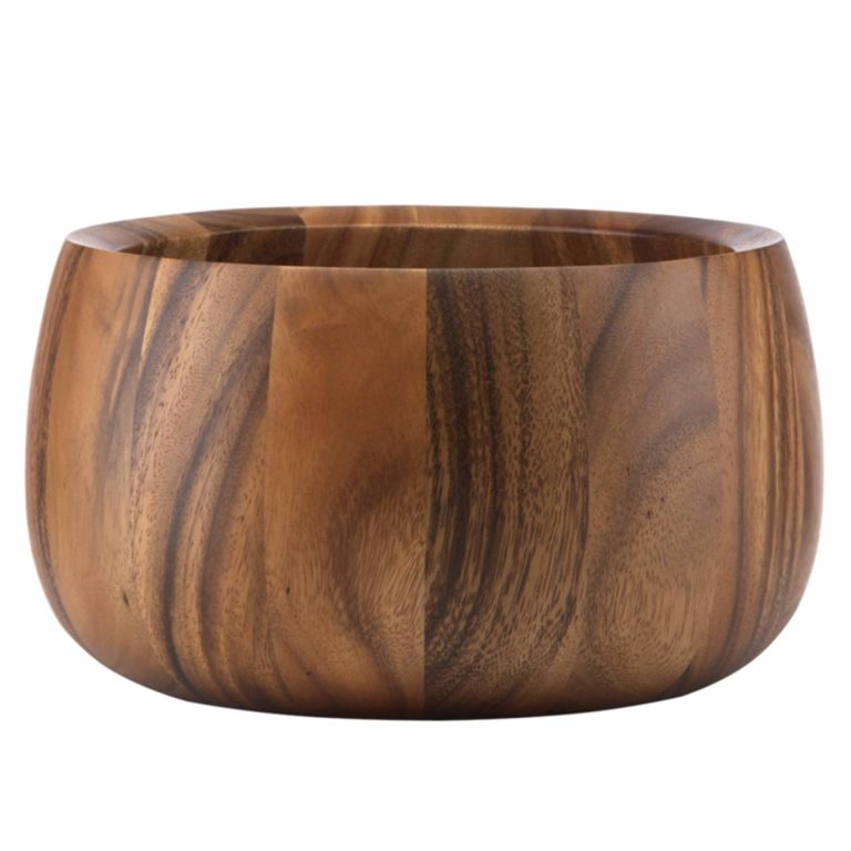 tradition fifth anniversary gift idea: wooden salad bowl