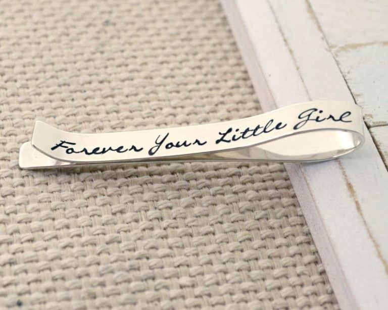 25th wedding anniversary gifts for husband - Tie Clip