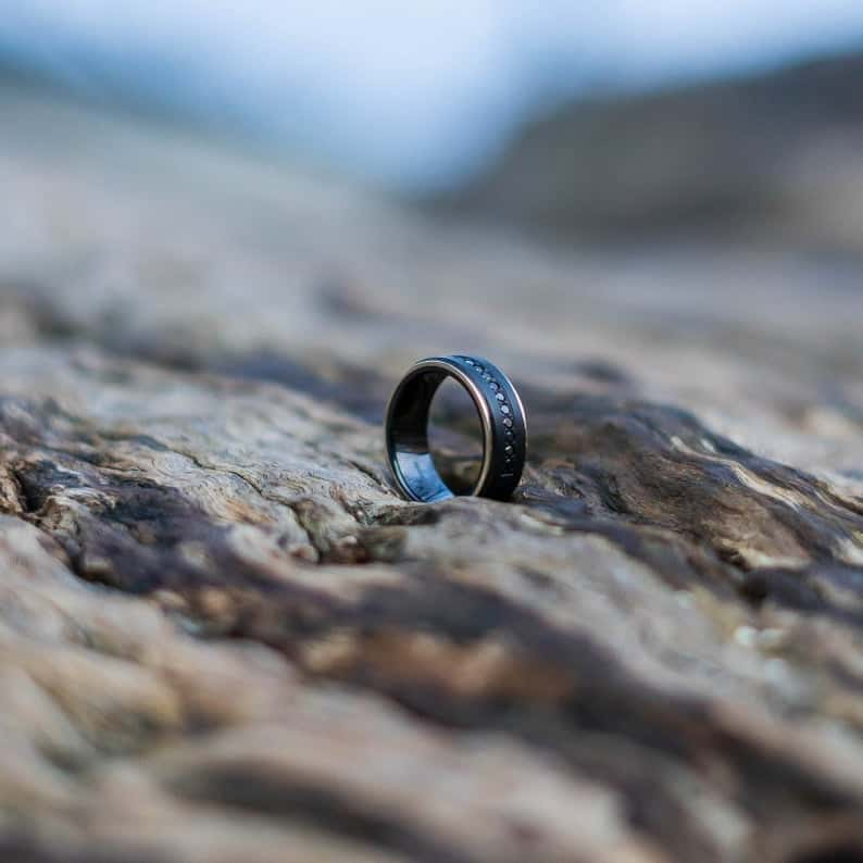 30 year anniversary gift for husband-Personalized Diamond Ring