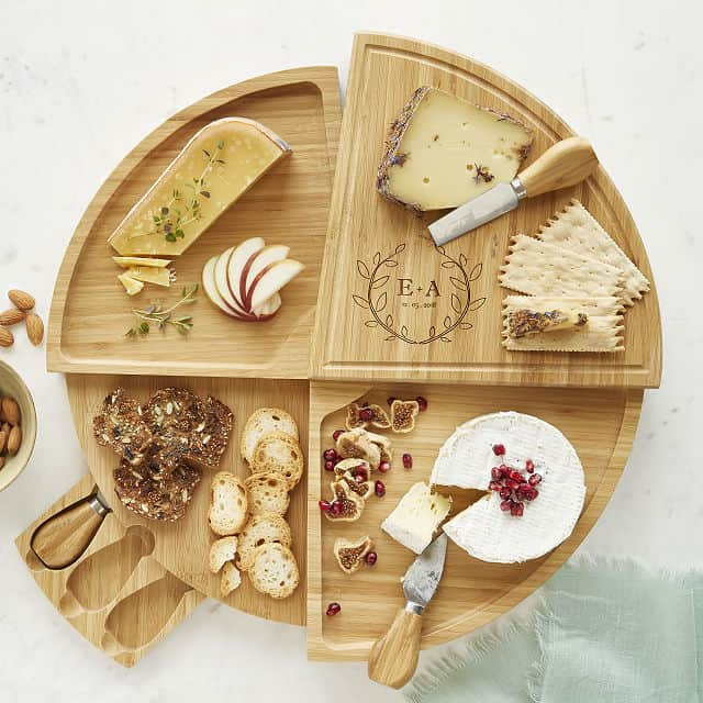 Personalized Compact Swivel Cheese Board