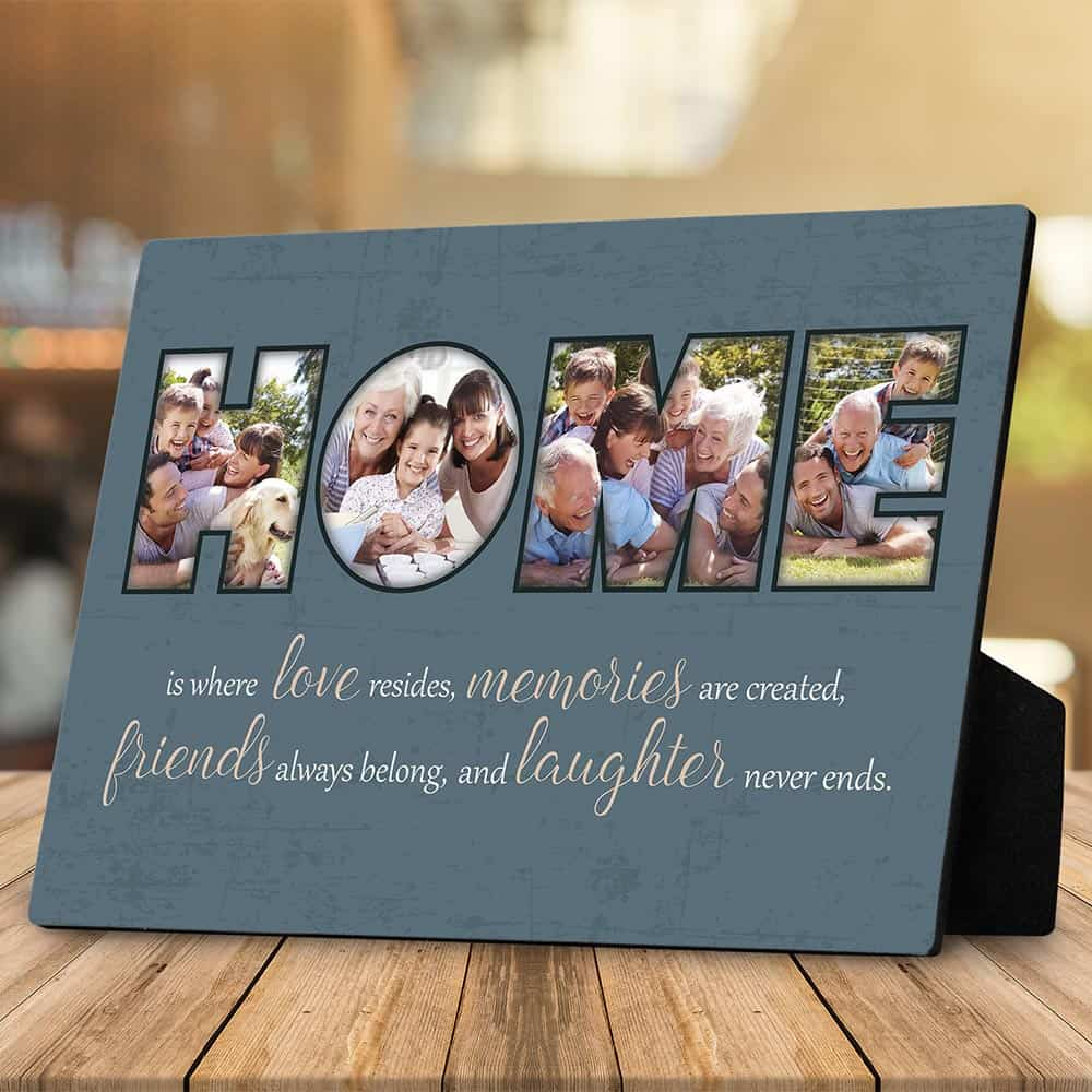 30th anniversary gift-Resides Custom Desktop Photo Plaque