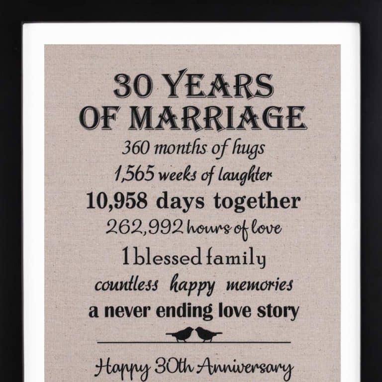 anniversary gifts for husband - anniversary birds burlap wedding couple