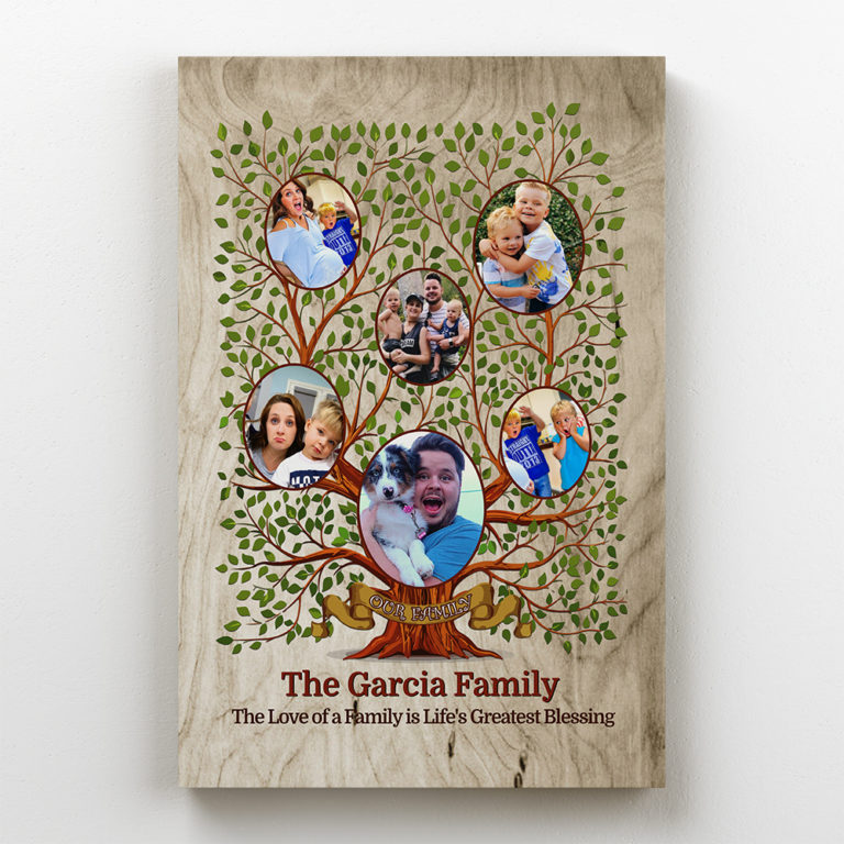 30th anniversary gift for parents - custom family canvas