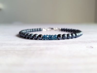 blue topaz bracelet - beautiful gift ideas for men
