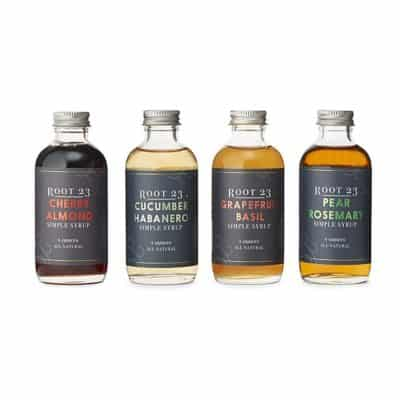 flavored syrup set for cocktails: cool 4th anniversary gift for couples