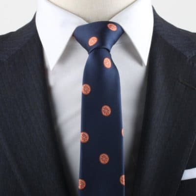 orange tie: fruit and flowers anniversary gift for him