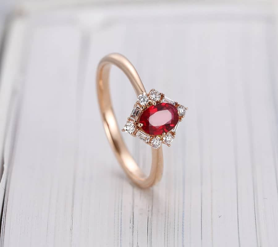 40th wedding anniversary gift - ruby color ring