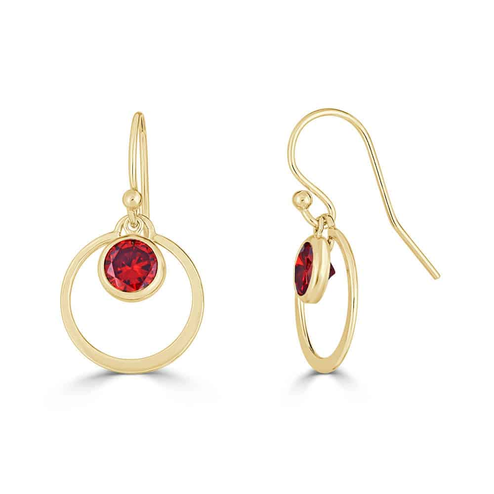 ruby red gifts - ruby earrings