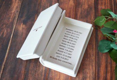 keepsake book box - thoughtful 50th wedding anniversary gift