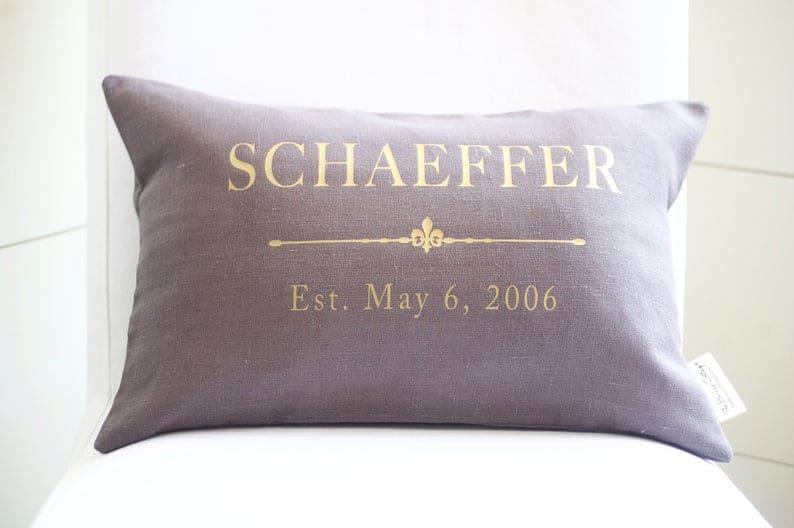 custom linen pillow cover