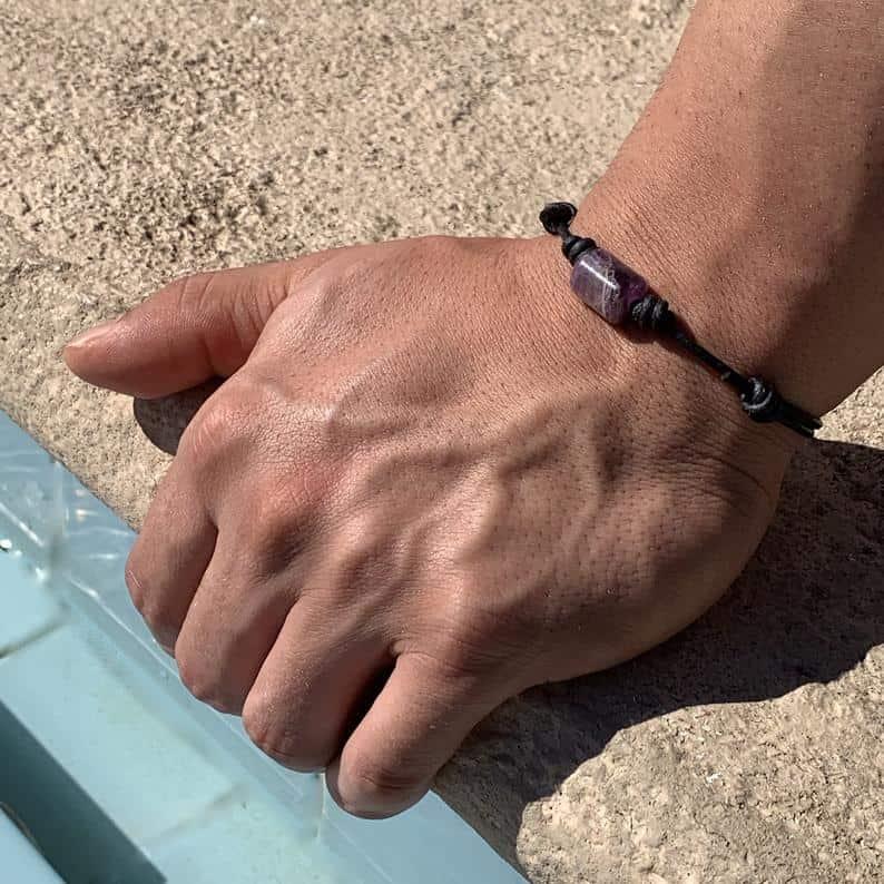 amethyst bracelet gift idea for men
