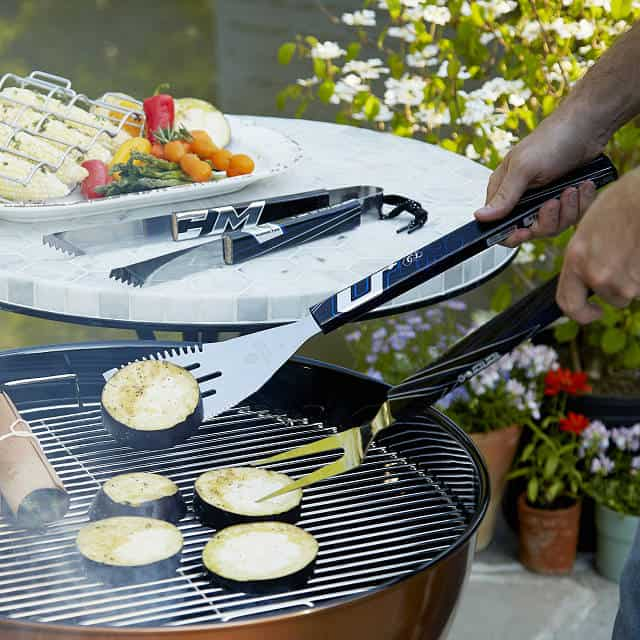 hockey grilling set - unique 6th anniversary gift idea for him