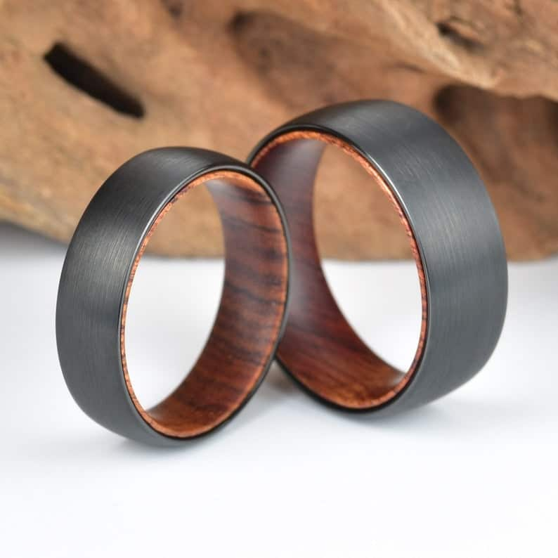 iron wooden men's ring - accessory for men