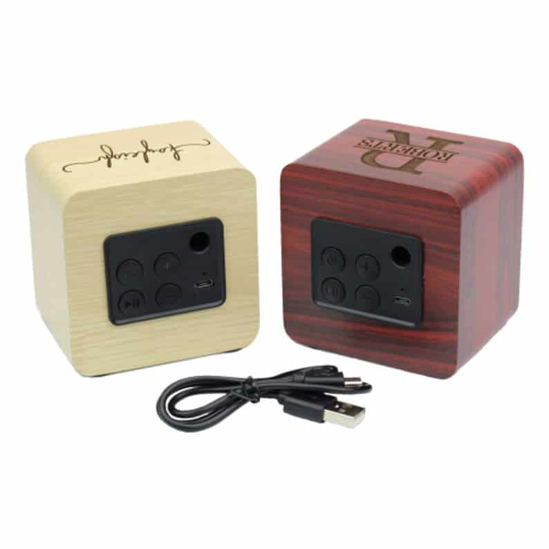 personalized wood bluetooth speakers